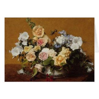 Blumenstrauß Henri Latour- der Rosen und anderer Grußkarte