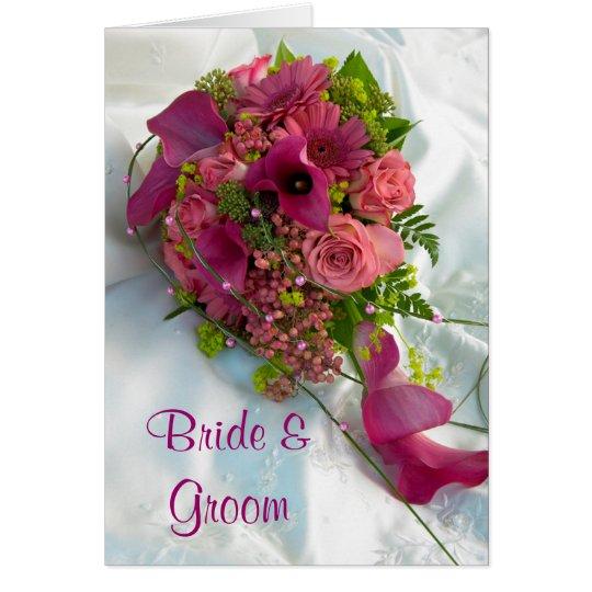Blumenstrauß-Hochzeits-Einladungs-Karte Grußkarte