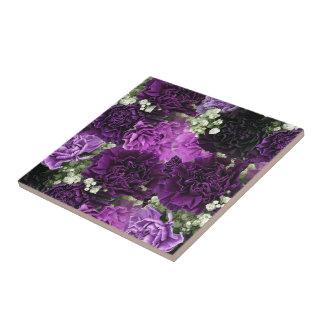 Blumenstrauß-lila Gartennelken Kleine Quadratische Fliese