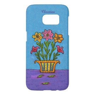Blumenstrauß-rosa gelbe Blumen-verzierter Vase auf
