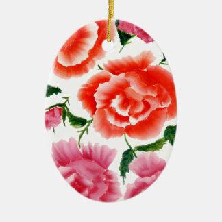 Blumenstrauß von Blumen 3 Keramik Ornament