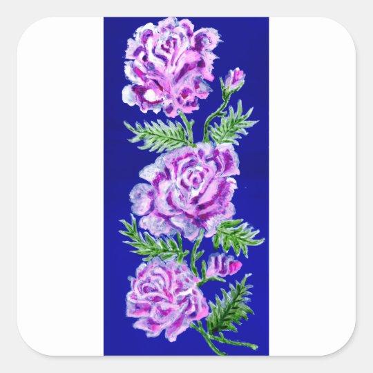 Blumenstrauß von Rosen WC Quadratischer Aufkleber