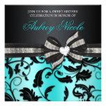 Blumenstrudel 16. Geburtstag laden mit Jeweled Individuelle Ankündigskarten