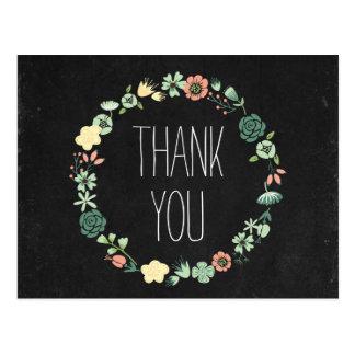 Blumentafel danken Ihnen Postkarte
