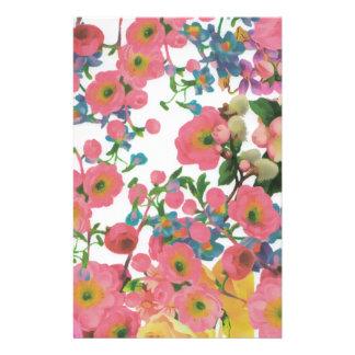 Blumenthemamuster der Vintagen eleganten Blumen Briefpapier