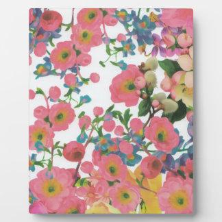Blumenthemamuster der Vintagen eleganten Blumen Fotoplatte