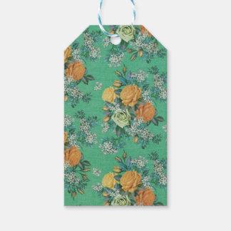 Blumenthemamuster der Vintagen eleganten Blumen Geschenkanhänger
