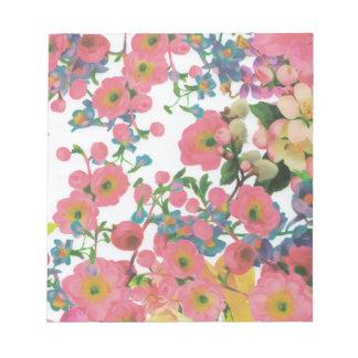 Blumenthemamuster der Vintagen eleganten Blumen Notizblock