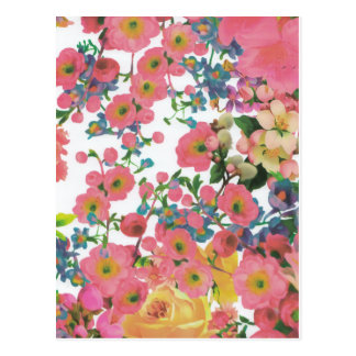Blumenthemamuster der Vintagen eleganten Blumen Postkarte