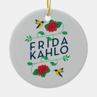 Blumentypographie Frida Kahlos | Keramik Ornament