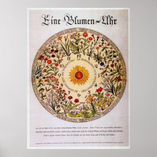 Blumenuhr   Blumen-Uhr Plakat