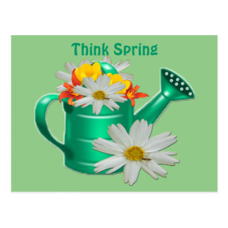 Blumenwasser-Dose Postkarte