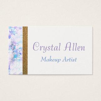 Blumenwatercolor-GoldGlitter bilden Künstler Visitenkarte