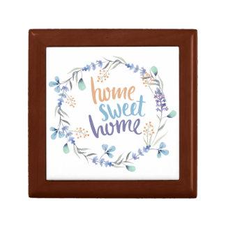 BlumenWatercolorwreath-Zuhause-Bonbon-Zuhause Kleine Quadratische Schatulle