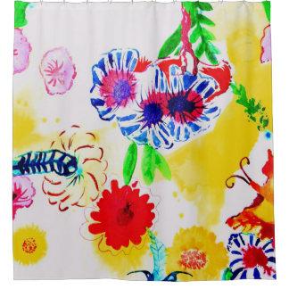 Blumenwatercolour. Duschvorhang