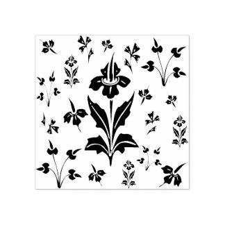 BlumenWildblumen-Blumen-botanisches Muster Gummistempel