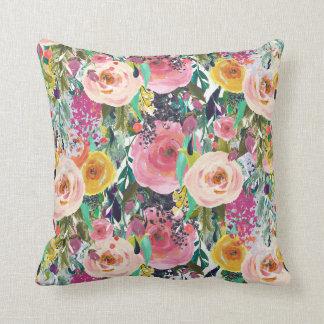 BlumenWurfskissen des hellen rosa Aquarells Kissen