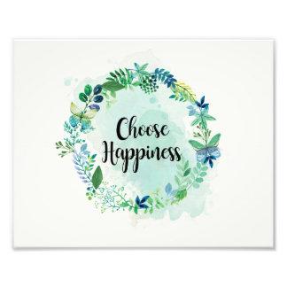 Blumenzitat-Druck, inspirierend Zitat-Aquarell Fotodruck