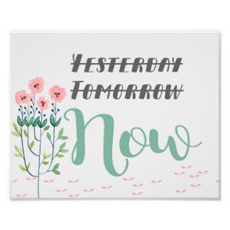 Blumenzitat-Druck, inspirierend Zitat Fotodruck