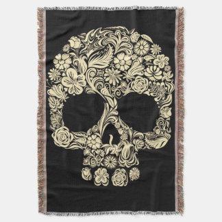 Blumenzuckerschädel-Wurfs-Decke Decke