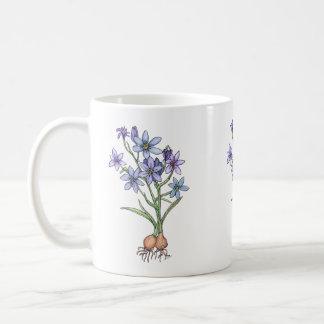 Blumenzwiebel-Tasse, in den weichen Blues Kaffeetasse