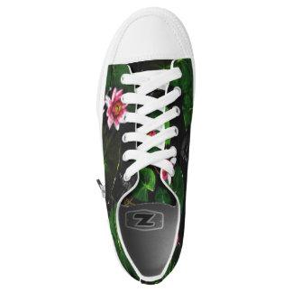 Blumig mit Turnschuhen einer Drehung Niedrig-geschnittene Sneaker