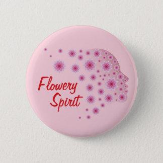 Blumiger Geist Runder Button 5,1 Cm