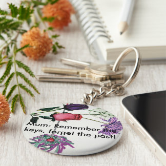 Blumiger Schlüsselring für Mamas Standard Runder Schlüsselanhänger