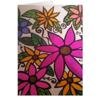 Blumiges notecard karte