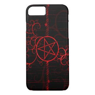 Blut-Hexe-SchmutzPentagram iPhone 7 Fall iPhone 8/7 Hülle