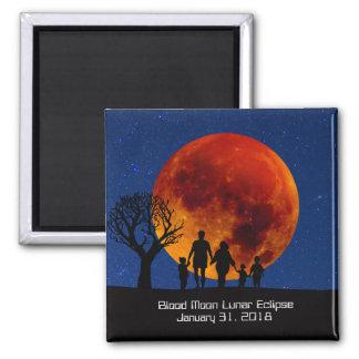 Blut-Mond-Mondfinsternis 2018 Quadratischer Magnet