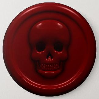 Blut-Schädel Runder Button 15,3 Cm