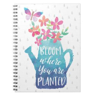 Blüte, in der Sie gepflanzt werden Notizblock