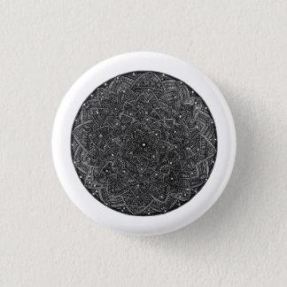 Blüten-Mandala Runder Button 2,5 Cm