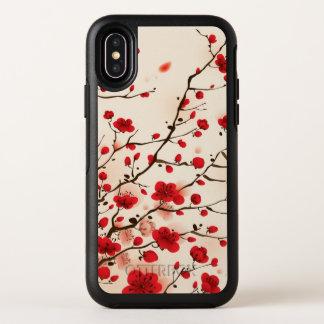 Blüten-orientalische Art-Malerei OtterBox Symmetry iPhone X Hülle