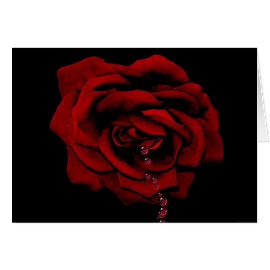 Bluten-Rose Karte