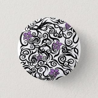 Blüten-Tätowierung - Runder Button 3,2 Cm