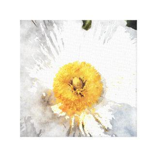 """Blüten-"" Wasserfarbe-Effekt-Blume Leinwanddruck"