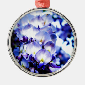 Blütenträume 2 silbernes ornament