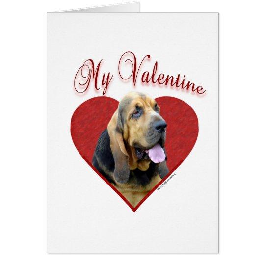 Bluthund mein Valentinsgruß Grußkarte