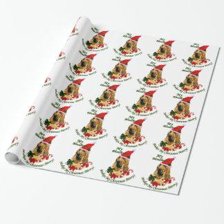 Bluthund-Weihnachten fröhlich Geschenkpapier