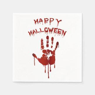 Blutige Halloween-Hand Papierserviette