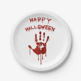 Blutige Halloween-Hand Pappteller