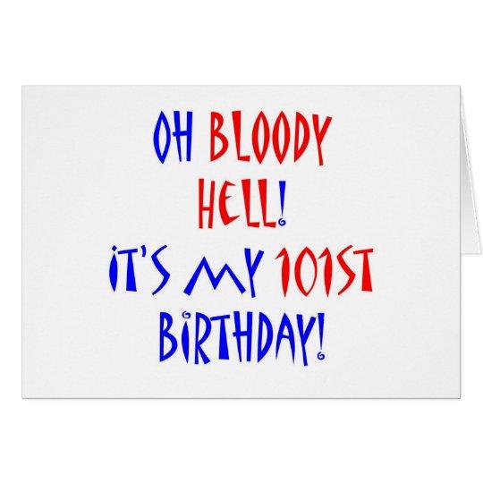 Blutige Hölle 101 Grußkarte