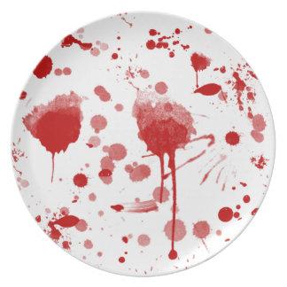 Blutige Melaminteller