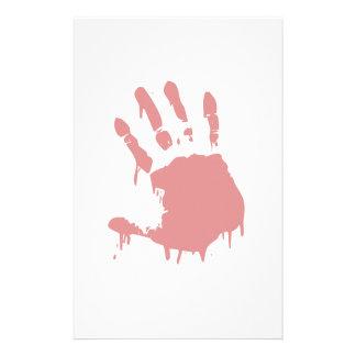Blutiger Handprint Horror stationär Briefpapier