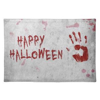 Blutiges Handprint Halloween - Tischset