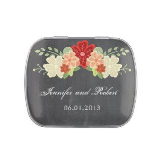 Blutorange-Blumen-Tafel-Hochzeit Jelly Belly Dose