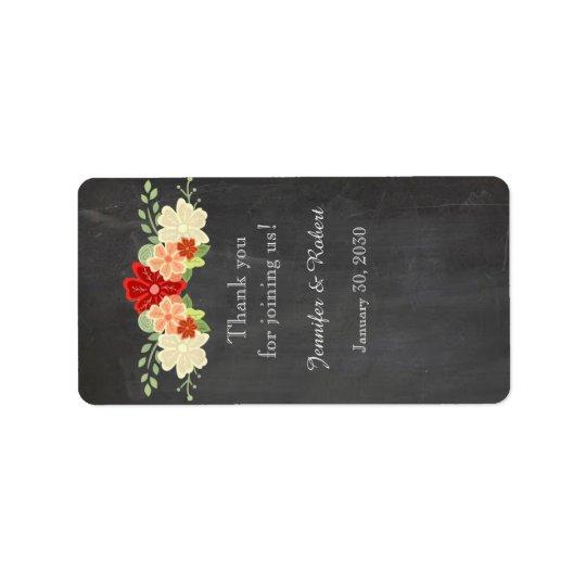 Blutorange-Tafel-Hochzeits-Lippenbalsam-Aufkleber Adressaufkleber