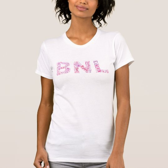 BNL Wort-Wolke - Rosa T-Shirt
